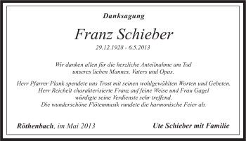 Zur Gedenkseite von Franz Schieber